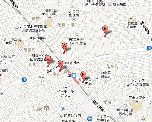 蕨駅のダンススタジオ