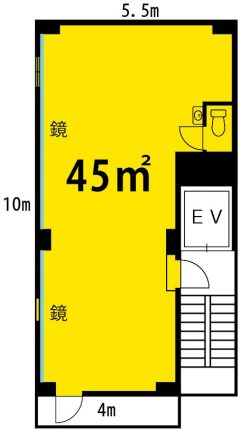 西川口 レンタルスタジオ の 図面 間取り
